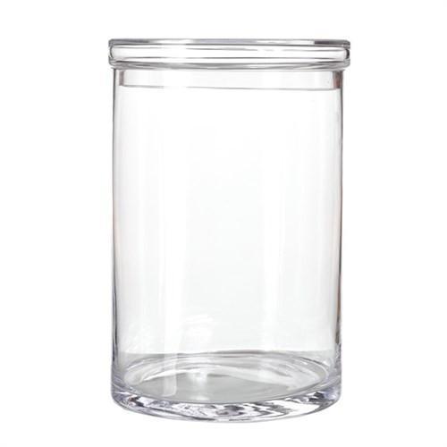 Elegant Living POT CLEAR GLASS WITH LID L