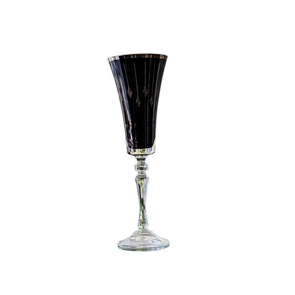 Elegant Living BLACK HERMITAGE GLASS OF CHAMPAGNE FANCY