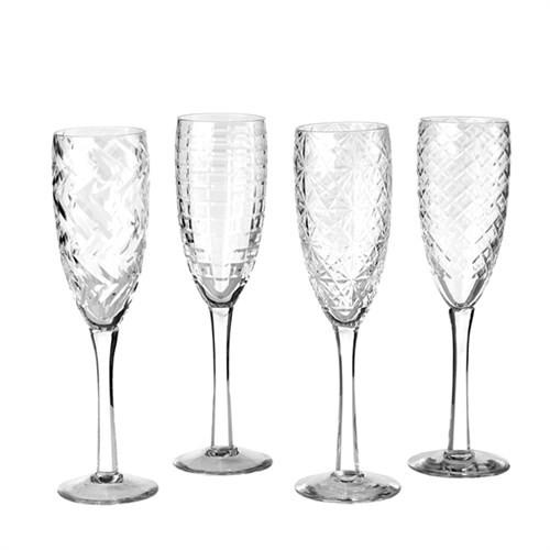 Elegant Living CHAMPAGNE CLEAR CUTTINGS STRAIGHT SET4