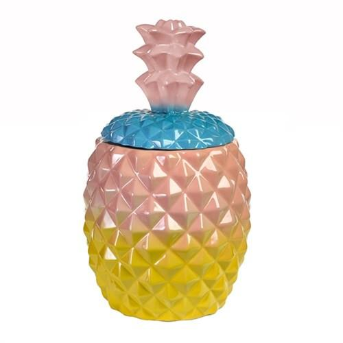 Elegant Living PINEAPPLE JAR MULTI PINK