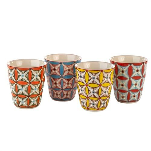Elegant Living CUPS COLOUR HIPPY SET4