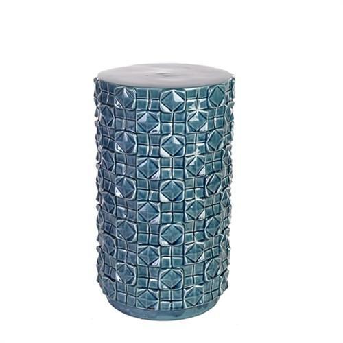 Elegant Living STOOL CERAMIC CHESS BLUE