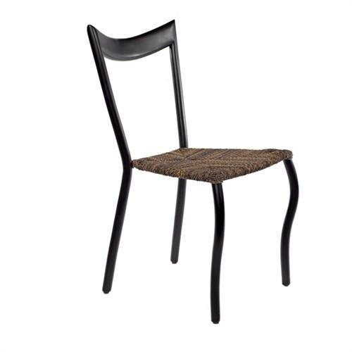 Elegant Living DINING CHAIR BLACK /ROPE BROWN