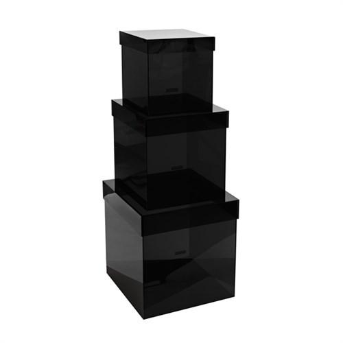 Elegant Living BOX SET3 ACRYLIC GREY