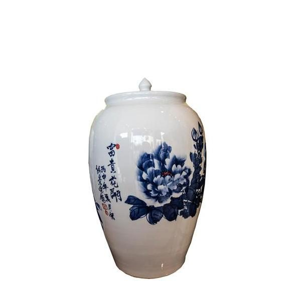 Elegant Living BLUE FLOWER JAR