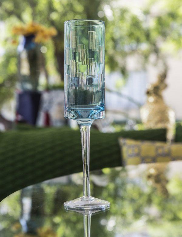 Elegant Living ЧАШИ ЗА ШАМПАНСКО ICY BLUE VAN ROON