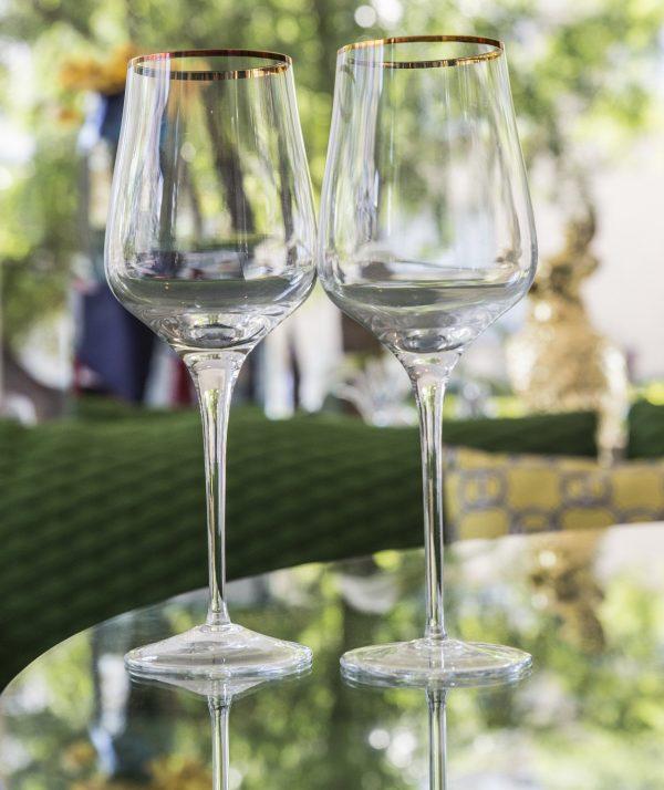 Elegant Living GOLD CELINE WHITE WINE GLASSES