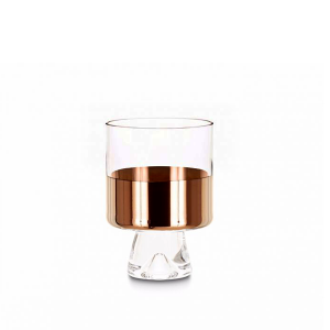Elegant Living НИСКИ ЧАШИ TANK LOW BALL COPPER x 2 TOM DIXON