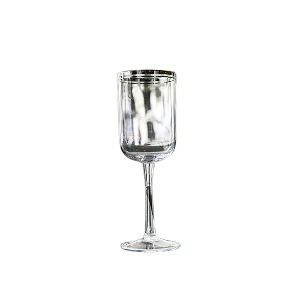 Elegant Living WHITE WINE GLASSES SILVER LINE