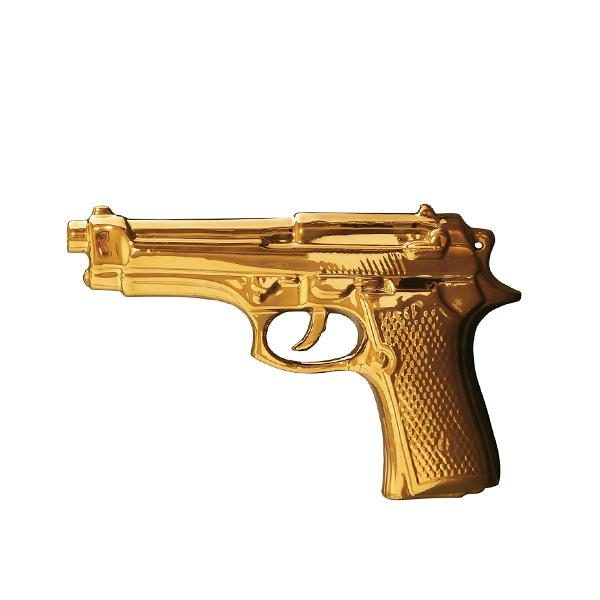 Elegant Living MEMORABILIA GOLD GUN SELETTI