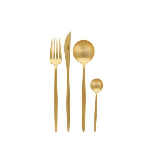 Elegant Living ПРИБОРИ ЗА ХРАНЕНЕ MOON MATTE GOLD CUTIPOL