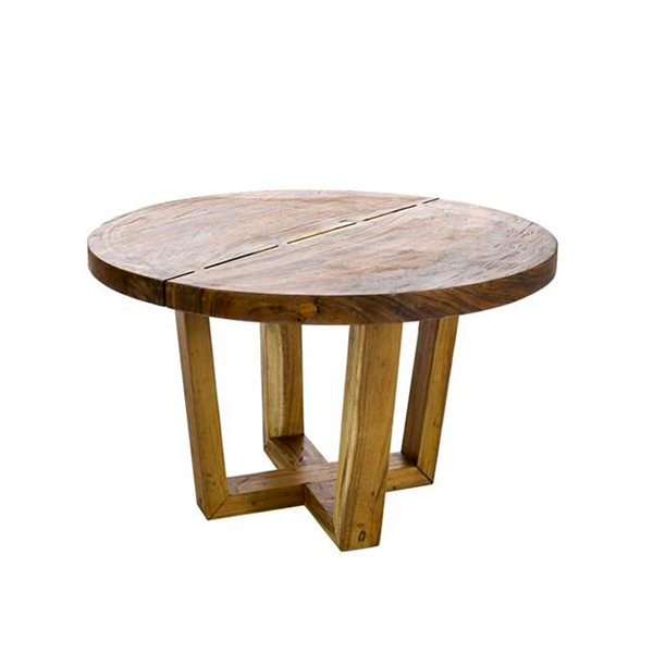 Elegant Living DINING TABLE THICK ROUND SUAR WOOD