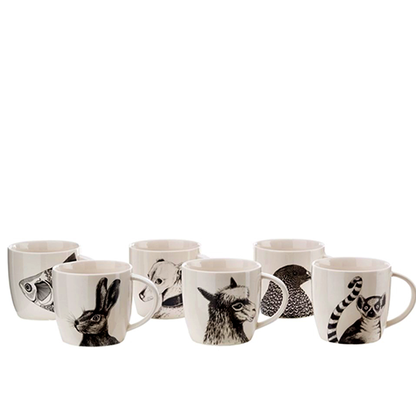 Elegant Living ЧАШИ ЗА ЧАЙ ANIMALS SET OF 6