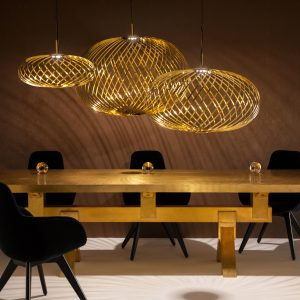 Elegant Living ПЕНДАНТ SPRING BRASS S TOM DIXON