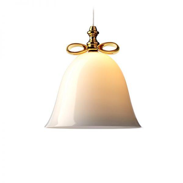 Elegant Living ПЕНДАНТ BELL SMALL WHITE/GOLD MOOOI