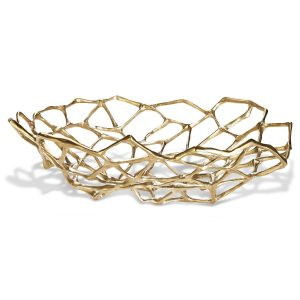 Elegant Living КУПА BONE LARGE BRASS TOM DIXON