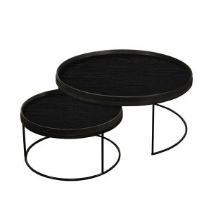 Elegant Living ROUND TRAY TABLE SET – LOW