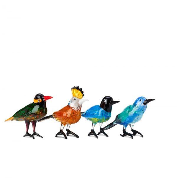 Elegant Living ДЕКОРАЦИЯ GLASS PARADISE BIRDS SET 4