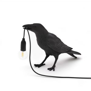 Elegant Living НАСТОЛНА ЛАМПА BIRD WAITING BLACK SELETTI