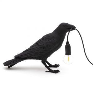 Elegant Living НАСТОЛНА ЛАМПА BIRD WAITING BLACK SELETTI