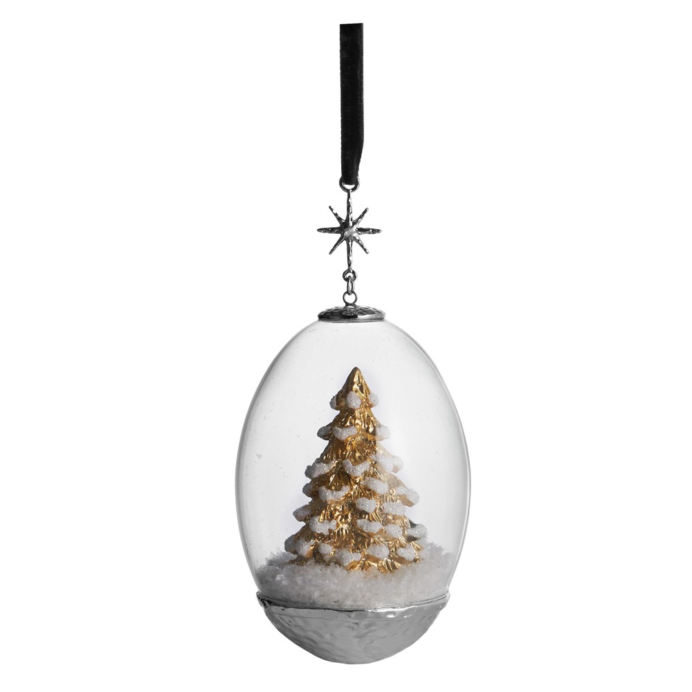 Elegant Living КОЛЕДНА УКРАСА TREE EGG SNOW GLOBE