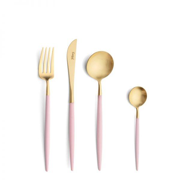 Elegant Living ПРИБОРИ ЗА ХРАНЕНЕ GOA PINK GOLD CUTIPOL