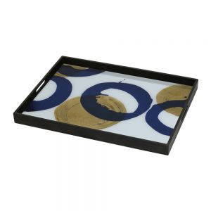 Elegant Living ПОДНОС GOLD AND BLUE HALOS
