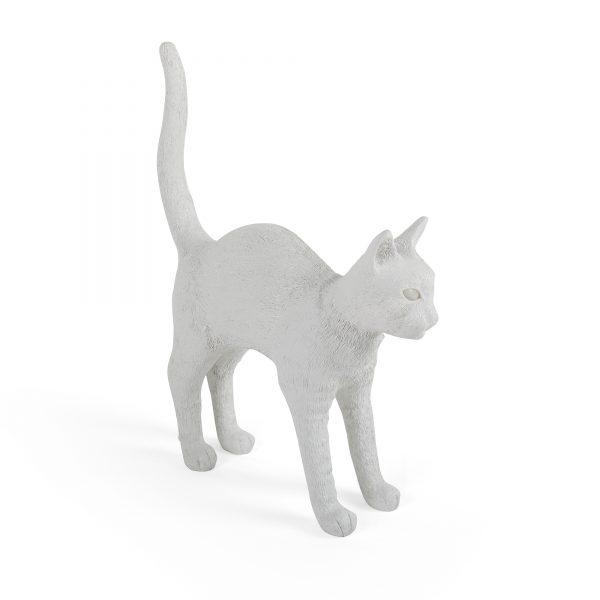 Elegant Living НАСТОЛНА ЛАМПА JOBBY THE CAT WHITE SELETTI