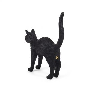 Elegant Living НАСТОЛНА ЛАМПА JOBBY THE CAT BLACK SELETTI