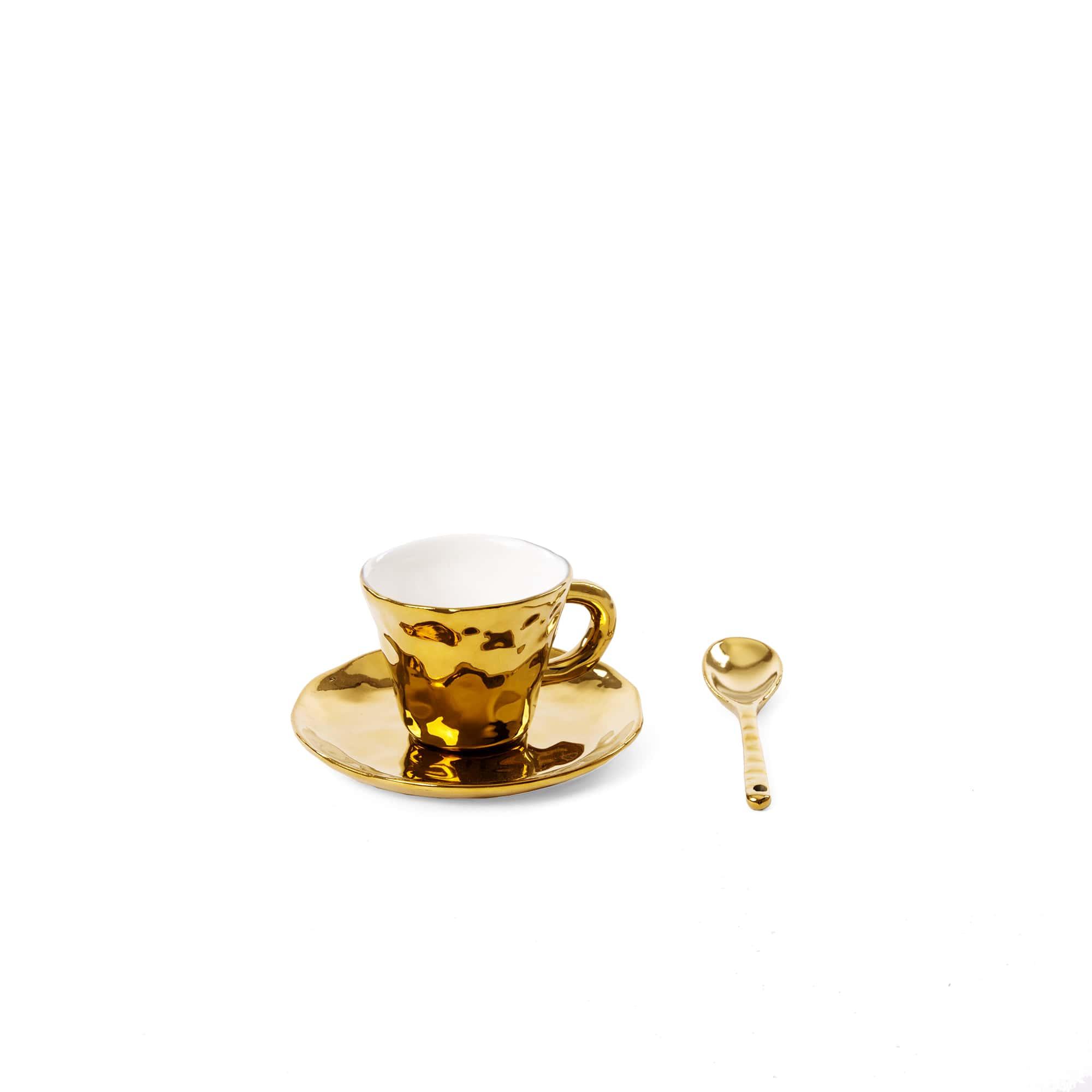 Elegant Living ЧАША ЗА КАФЕ FINGERS PORCELAIN GOLD SELETTI