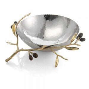 Elegant Living СТОМАНЕНА КУПА OLIVE BRANCH GOLD