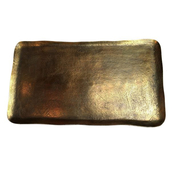 Elegant Living ПОДНОС BRASS RECTANGLE