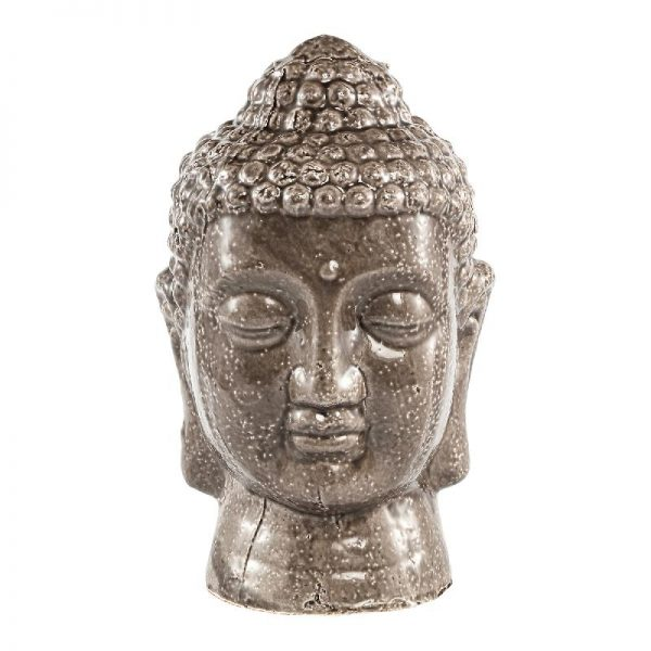 Elegant Living CAMBODJA GREY BUDDHA HEAD L