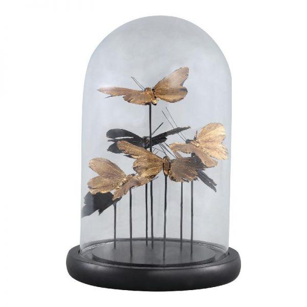 Elegant Living CADENCE BELL JAR BUTTERFLIES