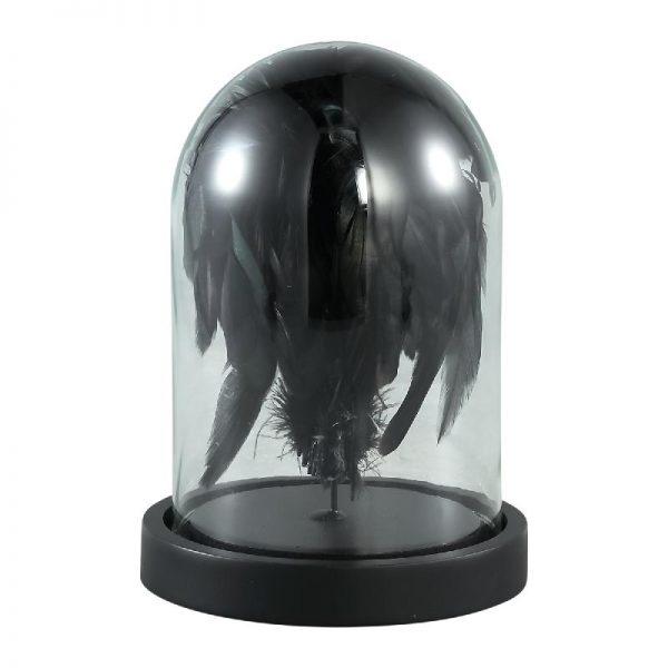 Elegant Living ZEPP BELL JAR BLACK FEATHER S