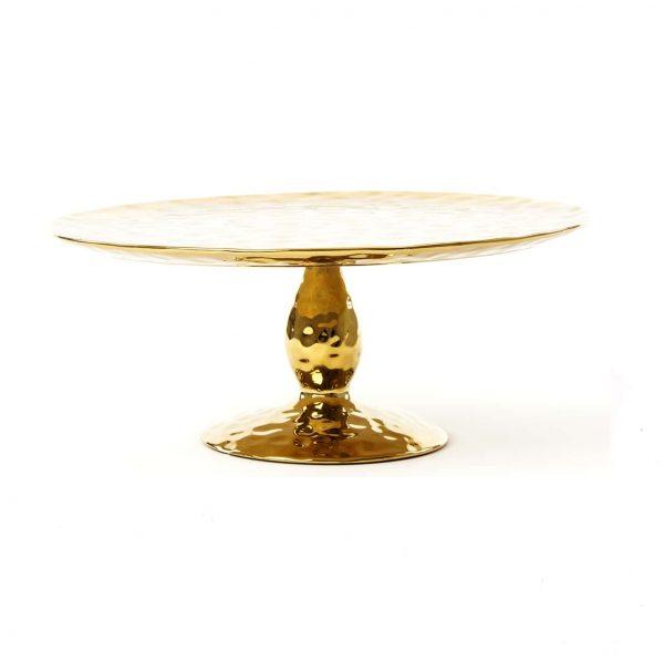 Elegant Living ПОСТАВКА ЗА СЛАДКИШИ FINGERS PORCELAIN GOLD SELETTI