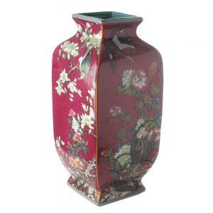 Elegant Living ВАЗА SQUARE CHINESE ART PURPLE