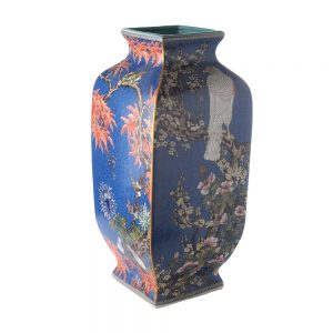 Elegant Living ВАЗА SQUARE CHINESE ART BLUE