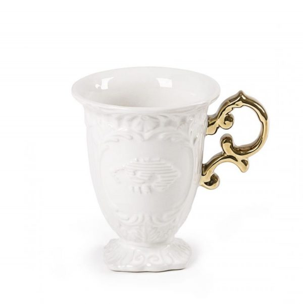 Elegant Living ЧАША I-WARES I-MUG GOLD SELETTI