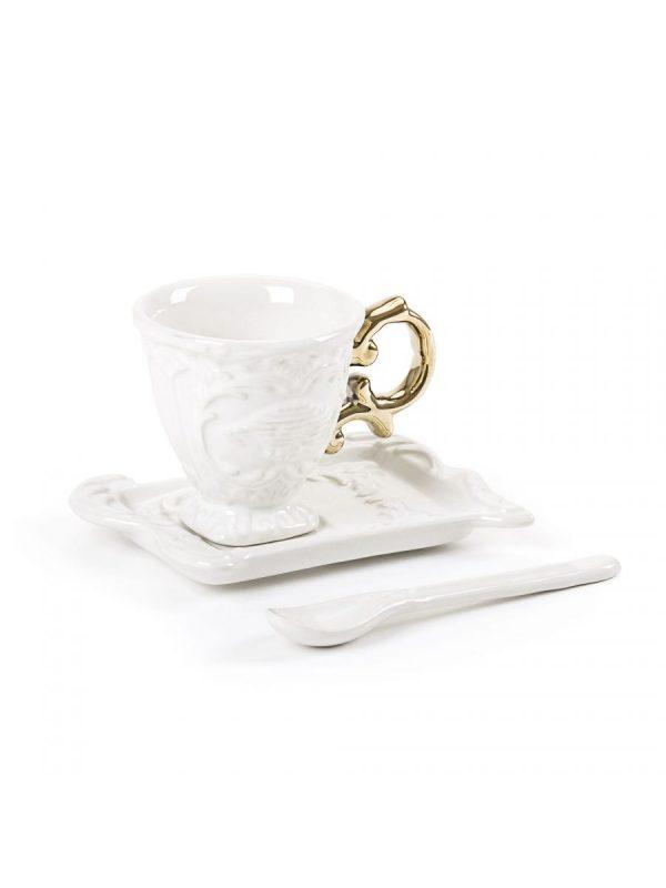 Elegant Living ЧАША ЗА КАФЕ I-WARES I-COFFEE GOLD SELETTI