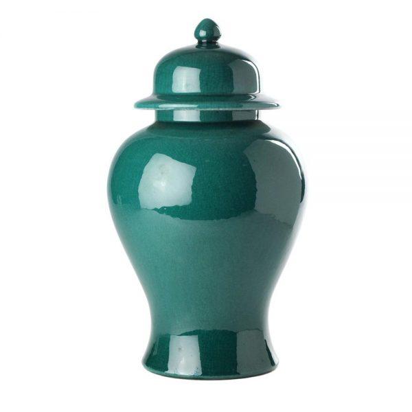 Elegant Living БУРКАН TEMPLE JAR GREEN IMPERIAL S
