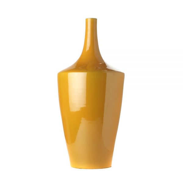 Elegant Living ВАЗА CONICAL YELLOW IMPERIAL М