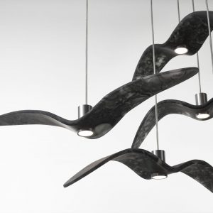 Elegant Living ПЕНДАНТ NIGHT BIRDS SMOKE GREY