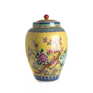 Elegant Living БУРКАН CONDIMENT POT QIANLONG YELLOW