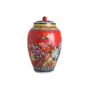 Elegant Living БУРКАН CONDIMENT POT QIANLONG RED BIRD