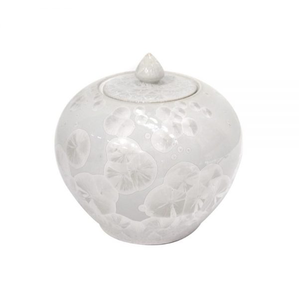 Elegant Living БУРКАН GINGER POT ROUND MOTHER OF PEARL SNOW