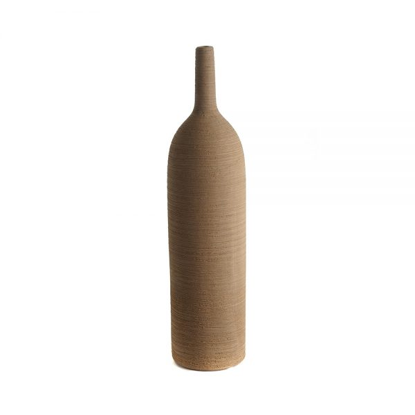 Elegant Living ВАЗА TANGA BOTTLE CERAMIC OCHER