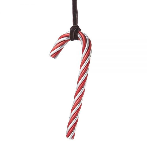 Elegant Living КОЛЕДНА УКРАСА TWIST CANDY CANE RED & SILVER