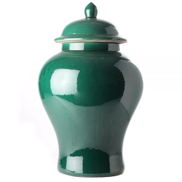 Elegant Living БУРКАН TEMPLE JAR GREEN IMPERIAL M