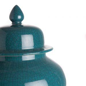 Elegant Living БУРКАН TEMPLE JAR CRACKLED GREEN